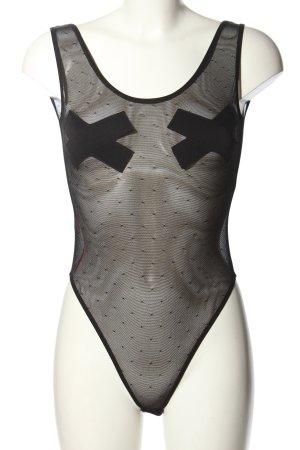 Caprice Basic Bodysuit black extravagant style