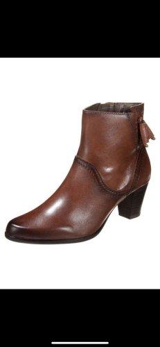 Caprice Zipper Booties brown-dark brown