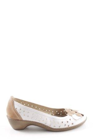 Caprice faltbare Ballerinas weiß-nude Casual-Look