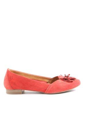Caprice Ballerina pieghevole rosso stile casual