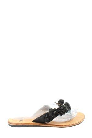 Caprice Sandalo infradito nero stile casual