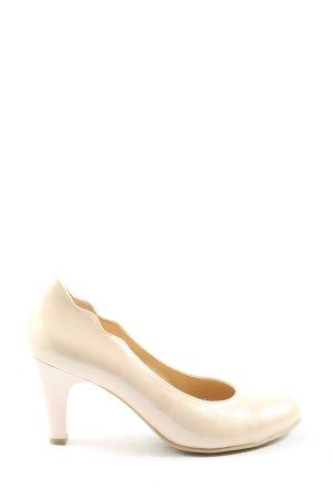 Caprice Classic Court Shoe cream elegant