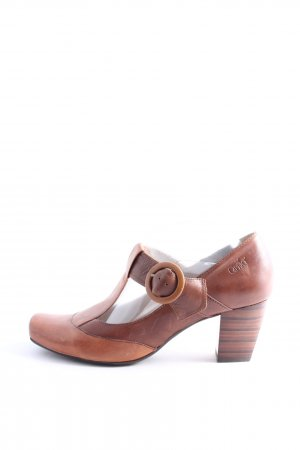 Caprice High-Front Pumps brown casual look