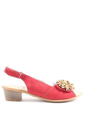 Caprice Sandalo comodo rosso-bianco sporco stile casual