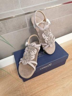 Caprice Sandalen met bandjes lichtgrijs-licht beige