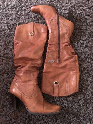 Caprice Heel Boots cognac-coloured-brown
