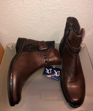 Caprice Booties brown-dark brown leather