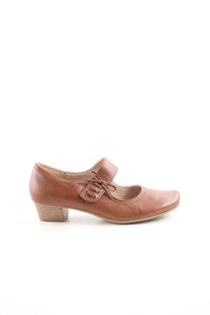 Caprice Zapatos Mary Jane marrón look casual