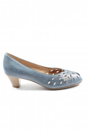 Caprice Peeptoe Pumps hellgrau Casual-Look