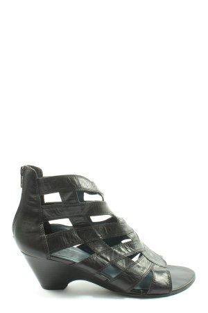 Caprice Peep Toe Pumps zwart casual uitstraling