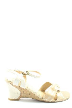 Caprice Sandalo con plateau bianco-oro stile casual