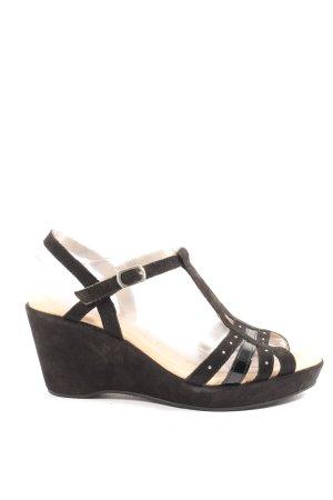 Caprice Plateauzool sandalen zwart casual uitstraling