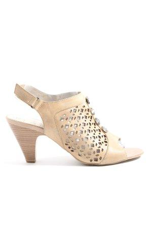 Caprice Platform High-Heeled Sandal cream casual look