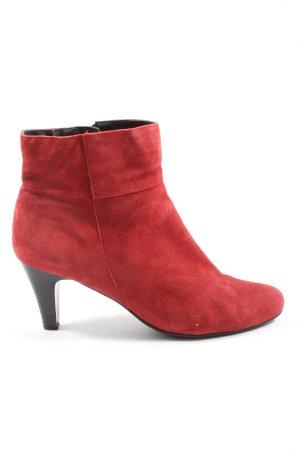 Caprice Reißverschluss-Stiefeletten rot Elegant