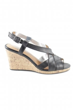 Caprice Riemchen-Sandalen schwarz-creme Casual-Look