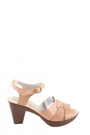 Caprice Strapped High-Heeled Sandals nude casual look