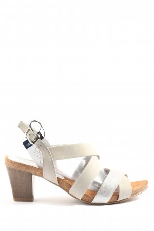 Caprice Riemchen-Sandaletten weiß-hellgrau Casual-Look
