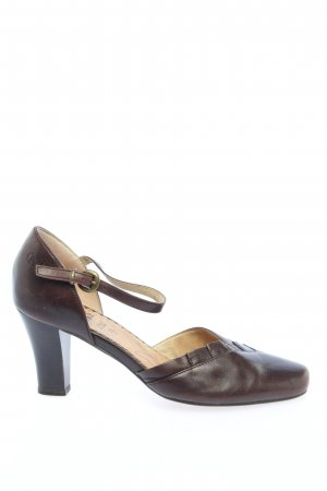 Caprice Riemchenpumps braun Business-Look