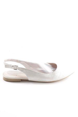 Caprice Slingback Ballerinas weiß Casual-Look