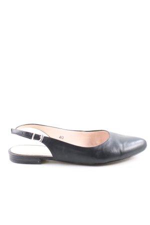 Caprice Slingback Ballerinas schwarz Business-Look