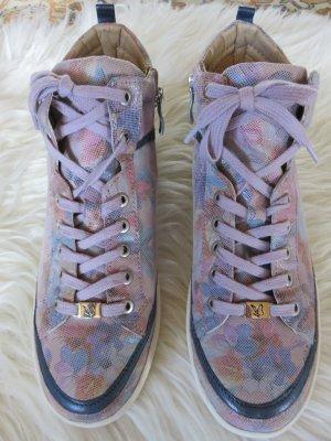 Caprice Sneaker neu in schönem Blumenmuster / Leder /Größe 51/2=38,5.
