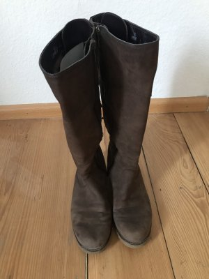 Caprice Wide Calf Boots brown-light brown
