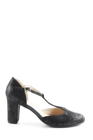 Caprice Zapatos de tacón con barra en T negro look casual