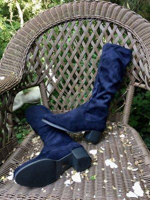 """""""Caprice"""" Textil-Stretch-Stiefel in Dunkelblau"""