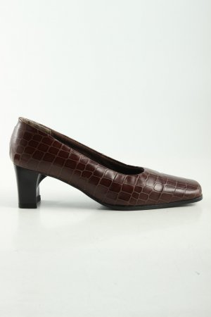 Caprice Loafers brown allover print business style