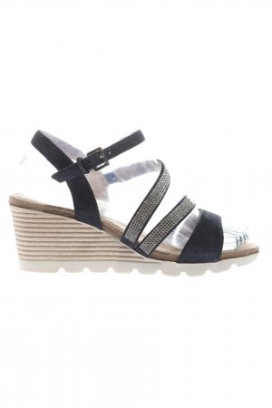 Caprice Wedge Sandals black casual look