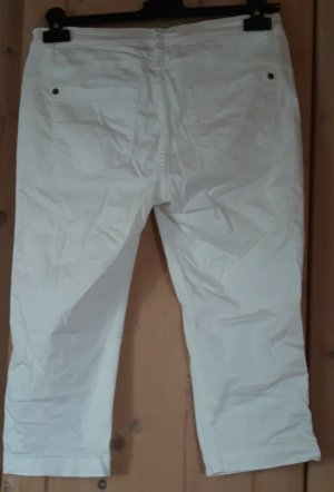 Street One 3/4 Length Trousers white cotton