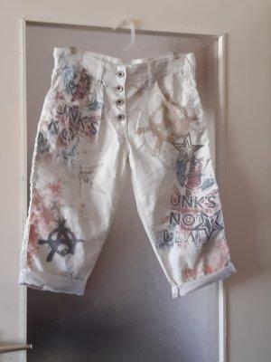 Made in Italy Pantalone Capri bianco Tessuto misto