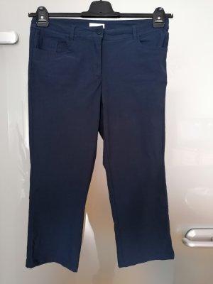 Charles Vögele Pantalon capri bleu foncé