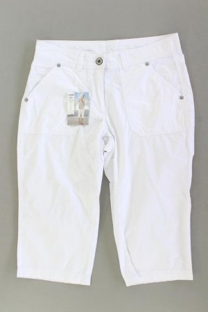 Pantalon capri blanc cassé coton