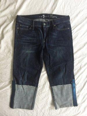 7 For All Mankind Pantalone Capri multicolore Tessuto misto