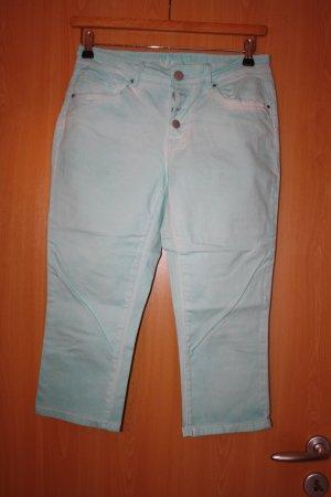 markenlos Pantalon capri vert menthe coton