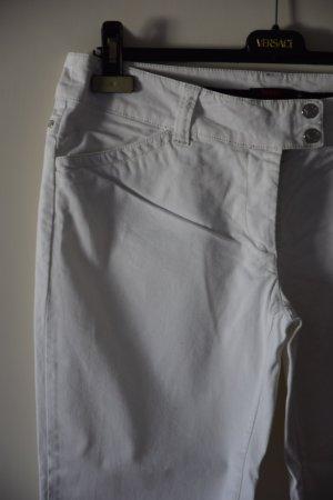 Versace Sport Pantalone Capri bianco Cotone