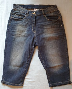 Giada Pantalon capri bleu acier