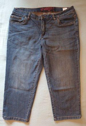 Sheego Pantalon capri bleuet