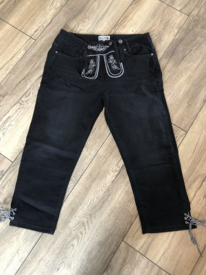 Brandl Tracht 7/8 Length Jeans black-white