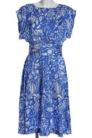 Capsule Sukienka midi biały-niebieski Na całej powierzchni Elegancki
