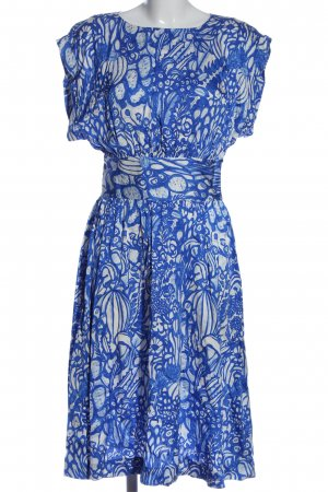 Capsule Midi Dress white-blue allover print elegant