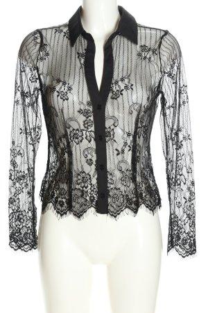 Capsule Koronkowa bluzka czarny W stylu casual