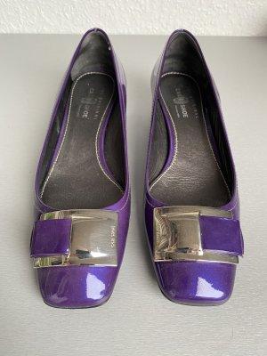 Car Shoe Ballerines en cuir verni multicolore cuir