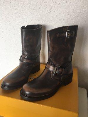 Car Shoe Stivaletto slip-on marrone-grigio-nero