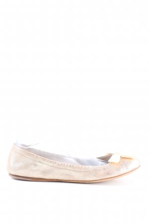 Car Shoe Foldable Ballet Flats gold-colored casual look
