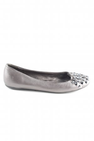 Car Shoe Foldable Ballet Flats silver-colored business style