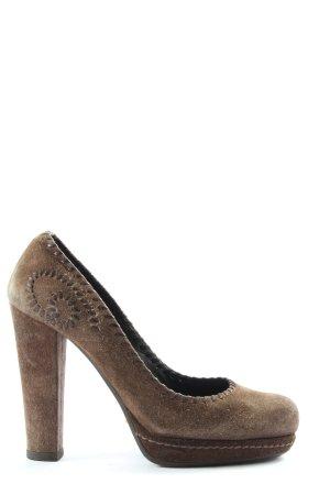 Car Shoe Tacco alto marrone stile casual