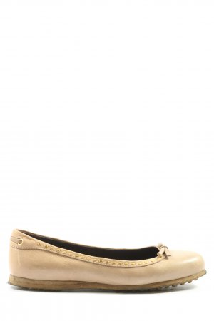 Car Shoe Classic Ballet Flats cream-gold-colored casual look