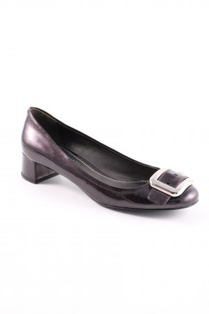 Car Shoe Ballerines en cuir verni rouge-violet style d'affaires